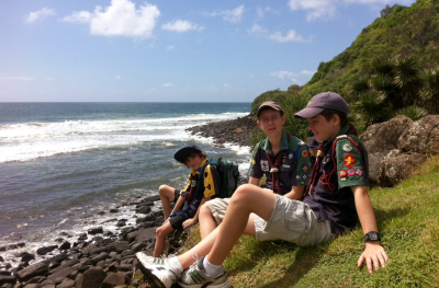 Scouts At Burleigh Heads National Park